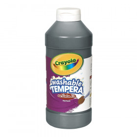 Artista II Washable Liquid Tempera Paint, Black, 16 oz.