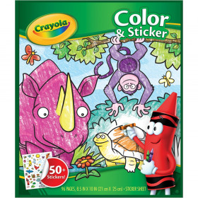 Color & Sticker Book, Jungle Animals
