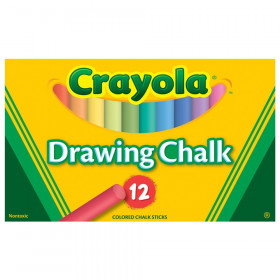 Crayola Colored Drawing Chalk, 12 colors