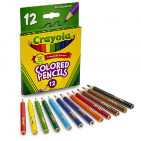 Crayola Short Colored Pencils, 12/Pack
