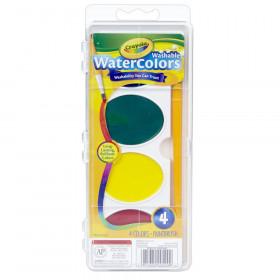 Crayola Jumbo Washable Watercolor Set, 4 colors