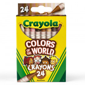 Colors of the World Crayons, 24 Colors