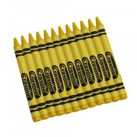 Bulk Crayons, Regular Size, Yellow, 12 Count