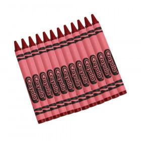 Bulk Crayons, Regular Size, Red, 12 Count