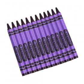 Bulk Crayons, Violet, Regular Size, 12 Count