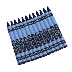Bulk Crayons, Blue, Regular Size, 12 Count