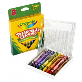 Crayola Triangular Anti-Roll Crayons, 8 colors