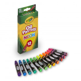 Oil Pastels, Neon, Pack of 12
