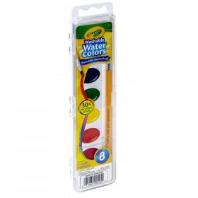 Crayola Semi-Moist Washable Watercolor Set, 8 colors
