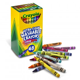 Ultra-Clean Washable Crayons - Regular Size, Pack of 48