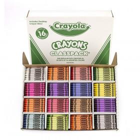 Crayola Crayons Classpacks 16 Color Reg Size 800 Crayons