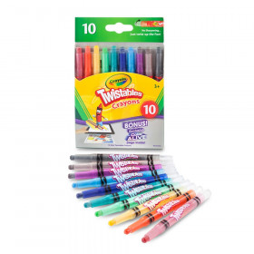 Mini Twistables Crayons, Pack of 10