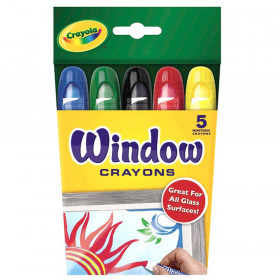 Window Crayons, 5 Count