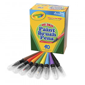 No Drip Paint Brush Pens 40Ct Washable
