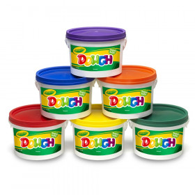 Crayola Dough Set Of 6 Tubs Red Orange Green Yellow Purple Blue