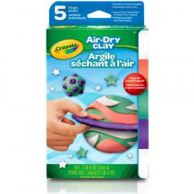 Air Dry Clay 5Ct Bright Variety Pk