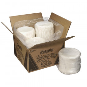Crayola Air Dry Clay 25 Lb White Pk