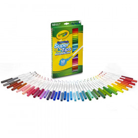 Crayola Super Tips Washable Markers, Pack of 50