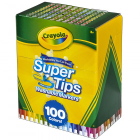 Washable Super Tips Markers, Pack of 100