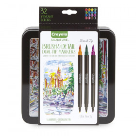 Signature Brush & Detail Dual-Tip Markers, Pack of 16