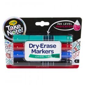 Take Note Chisel Tip Dry Erase Marker, Pack of 4