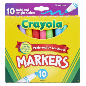 Broad Line Markers, Bold & Bright Colors, Pack of 10