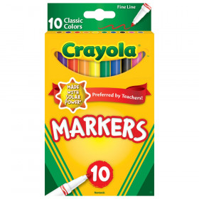 Fine Line Markers, Classic Colors, Pack of 10