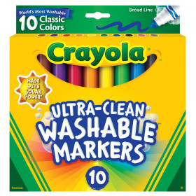 Ultra-Clean Markers, Broad Line, Classic Colors, Pack of 10