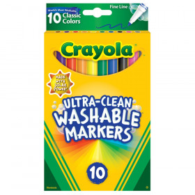 Ultra-Clean Markers, Fine Line, Classic Colors, Pack of 10