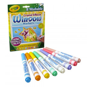 Washable Crystal Effects Window Markers, 8 Count