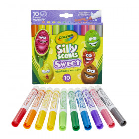 Silly Scents Sweet, Washable, Broad Line Markers, Pack of 10