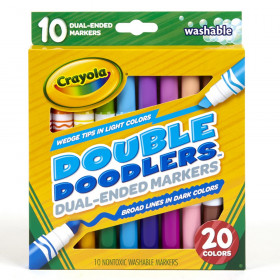 Dual-Ended Washable Double Doodlers Markers, Pack of 10