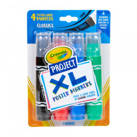 Project XL Poster Markers, Classic, 4 Count