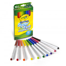 Washable Super Tips Markers, Pack of 10