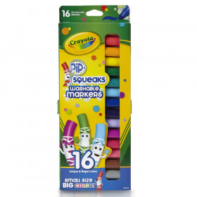 Pip Squeaks Washable Markers, Conical Tip, 16 Count