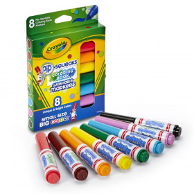 Pip Squeaks Washable Coloring Book Markers, Pack of 8