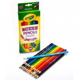 Watercolor Colored Pencils, 24 Colors