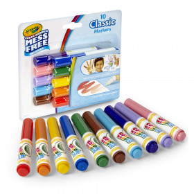 Color Wonder Mess Free Mini Markers, Classic Colors, Pack of 10