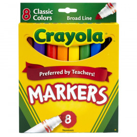 Crayola Original Formula Markers, Conical tip, 8 Classic Colors