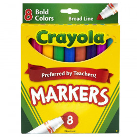 Crayola Original Formula Markers, Conical tip, 8 Bold Colors