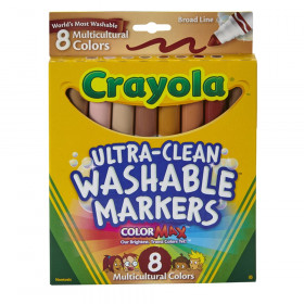 Crayola® Multicultural Markers, 8 colors