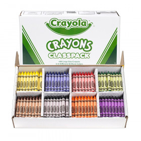 Crayon Classpack, Large Size, 8 Colors, 400 Count