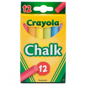 Multi-Colored Children's Chalk, 12 Count