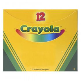 Bulk Crayons, Regular Size, Black, 12 Count