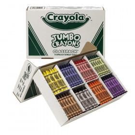 Crayon Classpack, Jumbo Size, 8 Colors, 200 Count