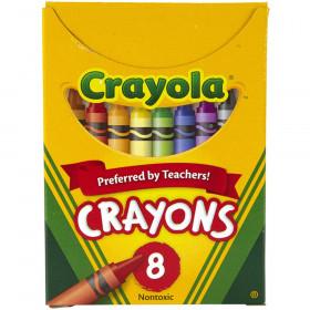 Crayola Crayons, Reg Size, 8 colors