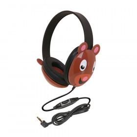 Listening First Animal-themed Stereo Headphones, Bear