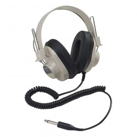 Deluxe Mono Headphone, Fixed Coiled Cord