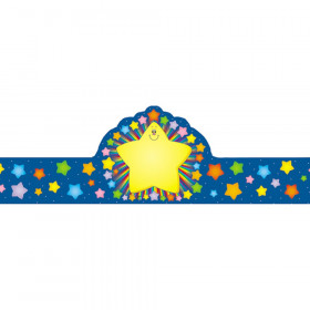 Rainbow Star Crowns, Pack of 30