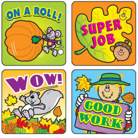 Fall Fun Motivational Stickers, Pack of 120